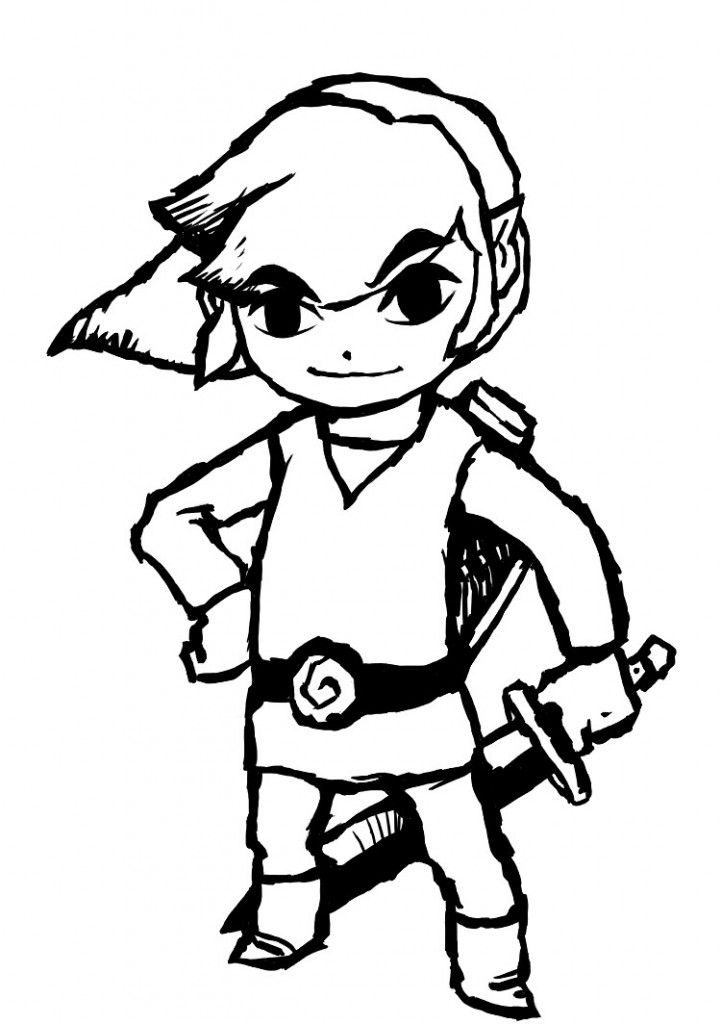 Baby Link Coloring Pages