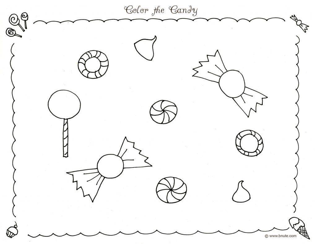 Free Printable Candyland Coloring