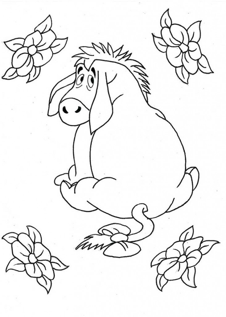 free printable kid coloring pages | Free Printable Eeyore Coloring Pages For Kids