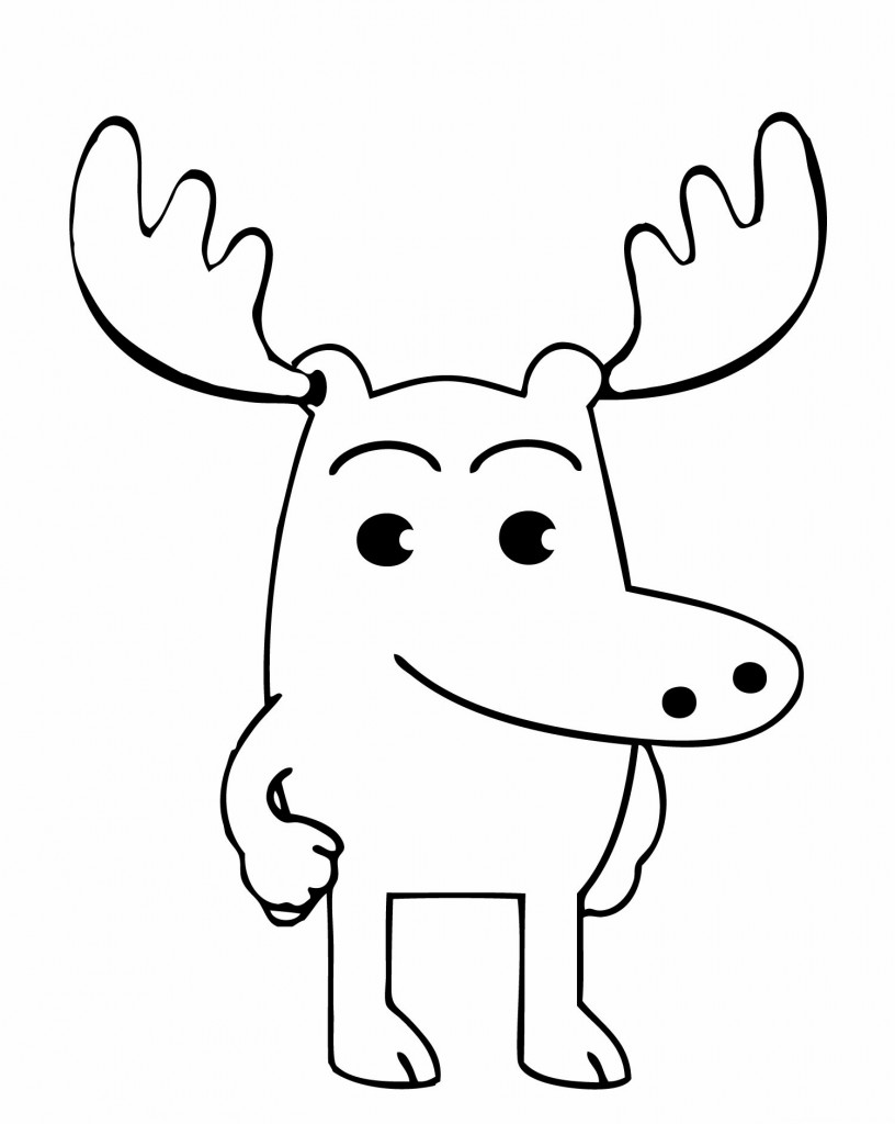 free printout coloring pages | Free Printable Moose Coloring Pages For Kids