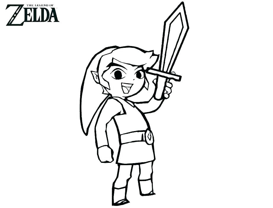 Legend Of Zelda Coloring Page Printables