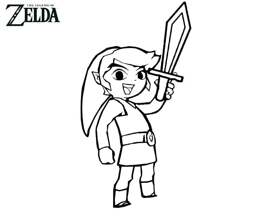Legend Of Zelda Coloring Page Printables