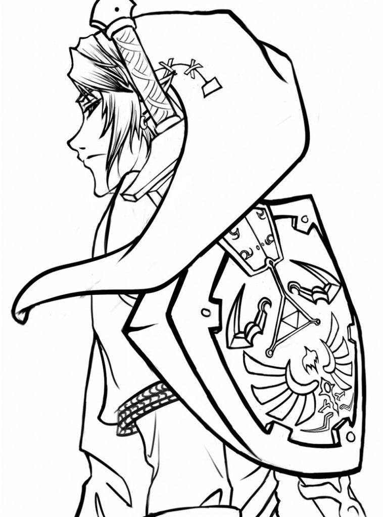 Legend Of Zelda Link Coloring Page