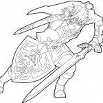 Link Fighting Zelda Coloring Pages