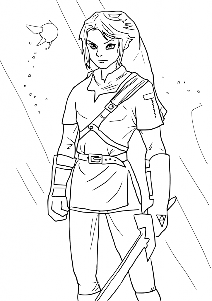 Link Legend Of Zelda Coloring Pages