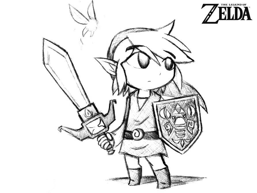 Little Link Zelda Coloring Pages