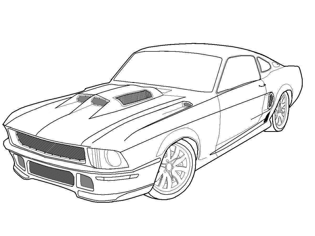 nfs ford mustang coloring pages - photo#24