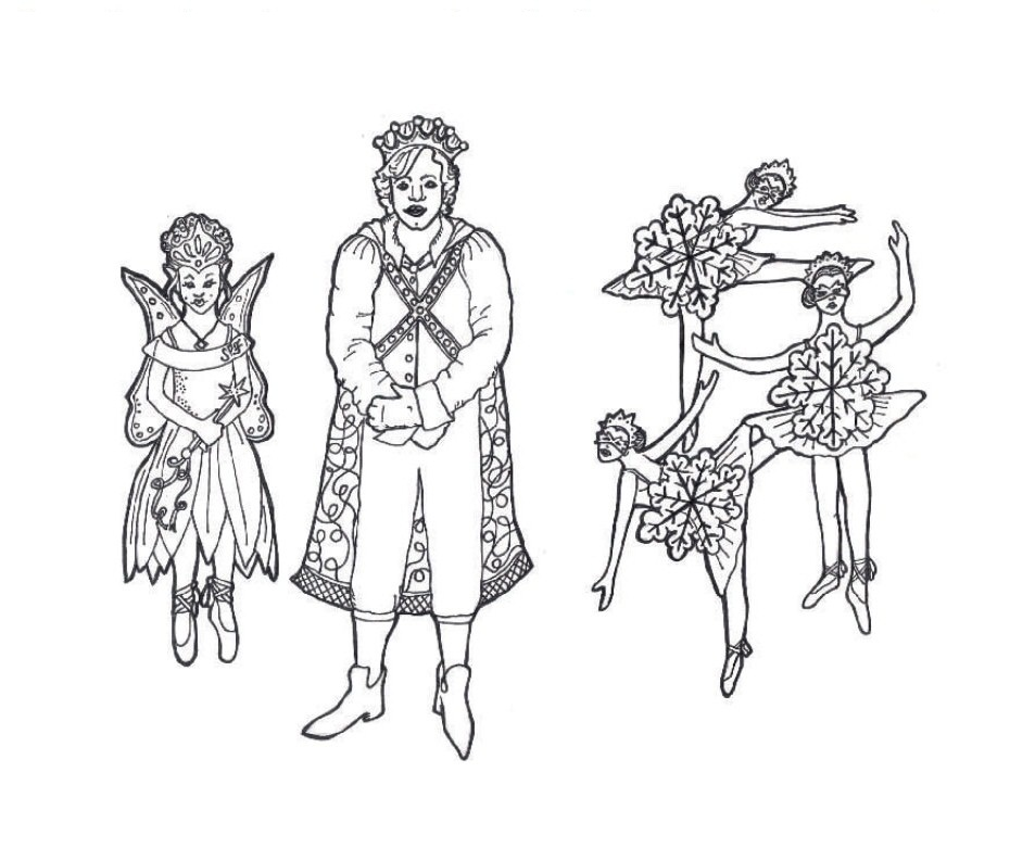 Nutcracker Ballet Coloring Pages