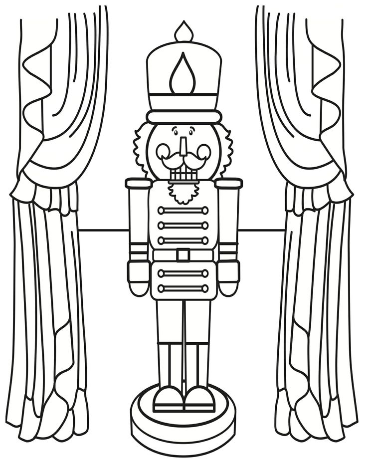 nutcracker coloring book pages