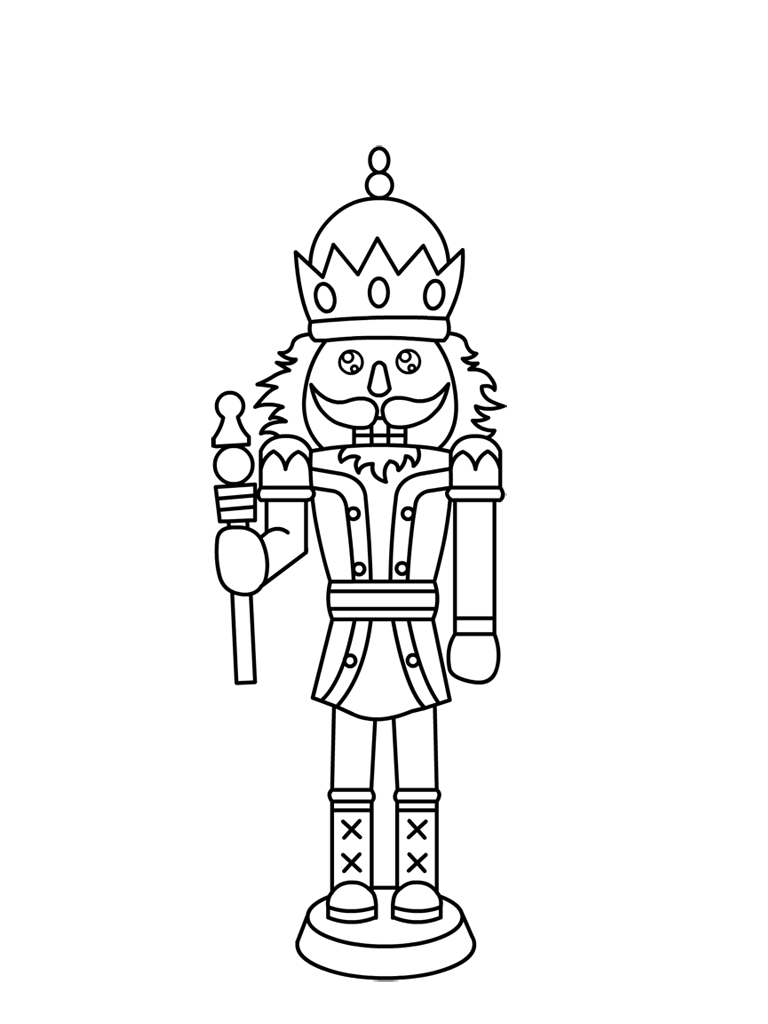 Line Drawing Name : Free printable nutcracker coloring pages for kids