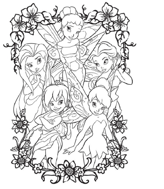 Disney Fairies Printable Coloring Pages