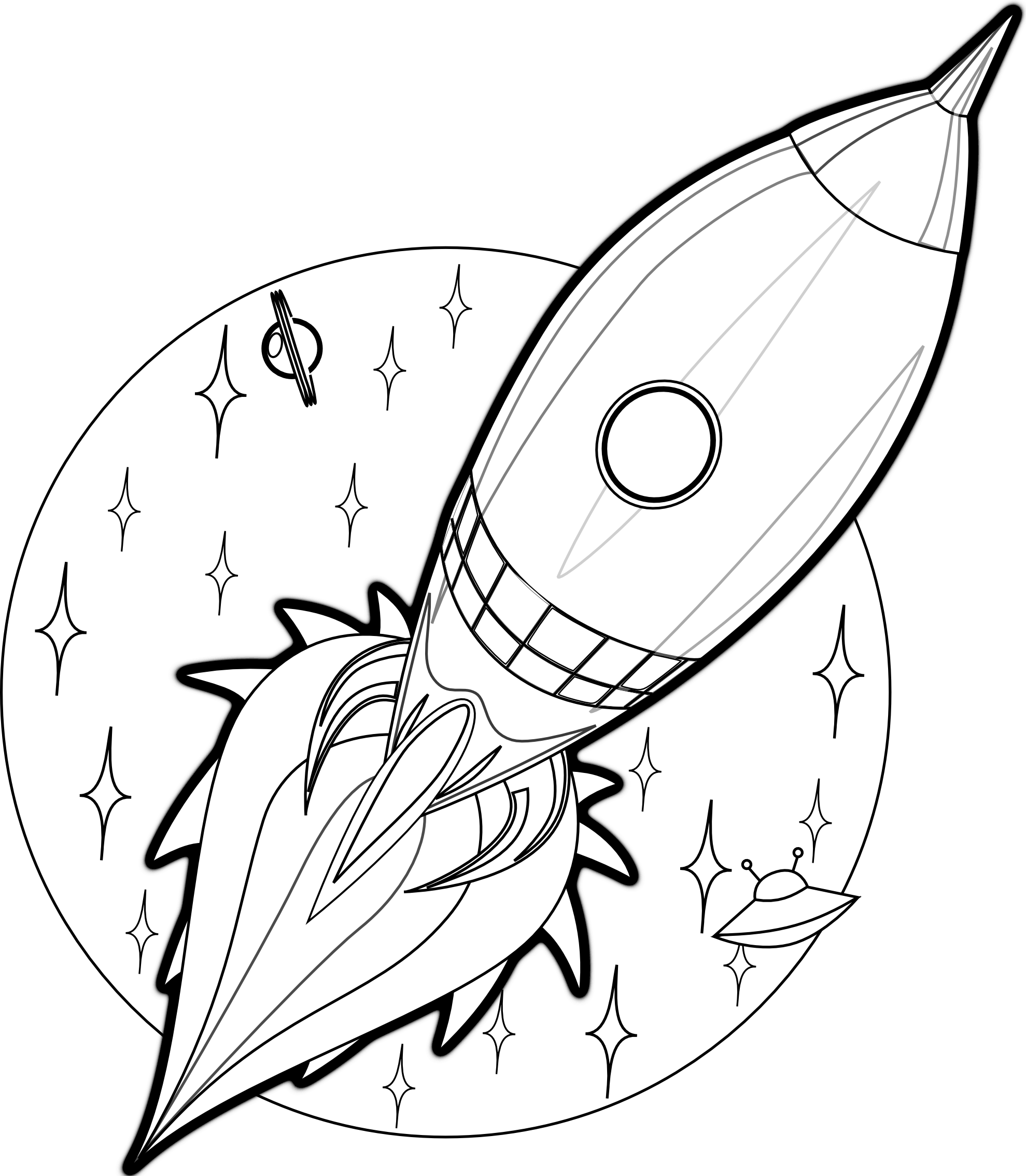 Free printable rocket ship coloring pages for kids for Coloring page book