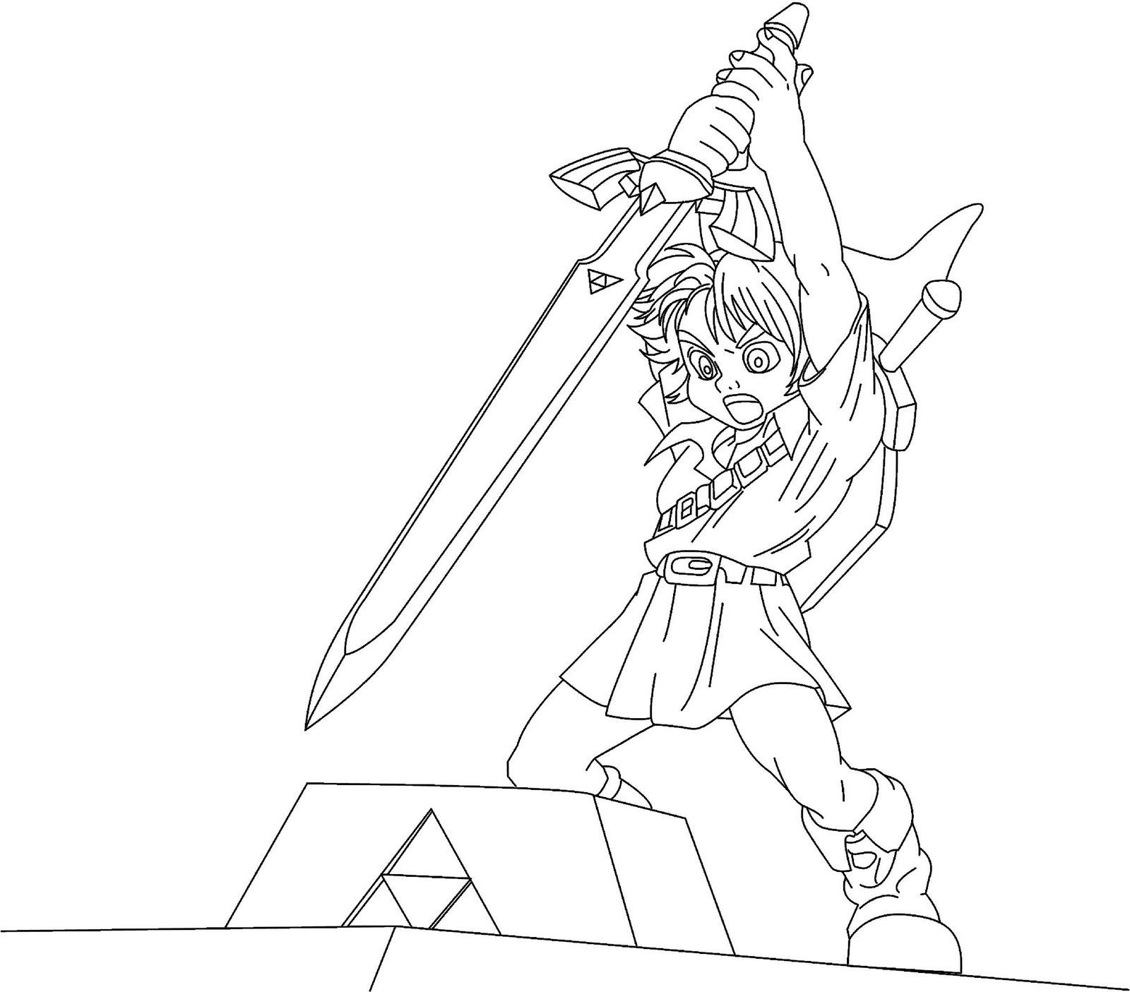 Free printable zelda coloring pages for kids - Coloriage link ...