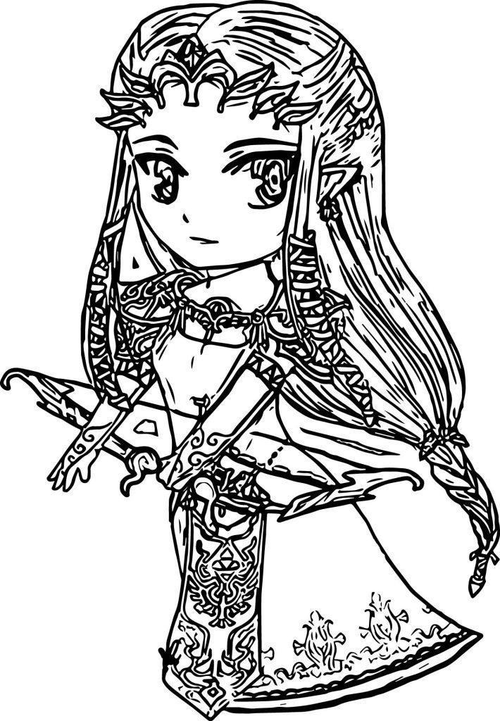 Zelda Printable Coloring Page
