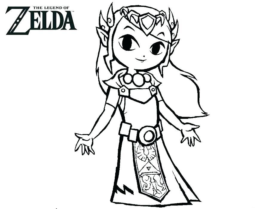 Zelda Coloring Pages Free Printable | 700x920