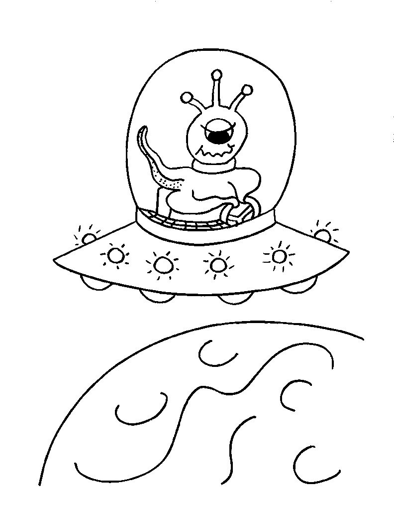 coloring pages aliens - photo#27