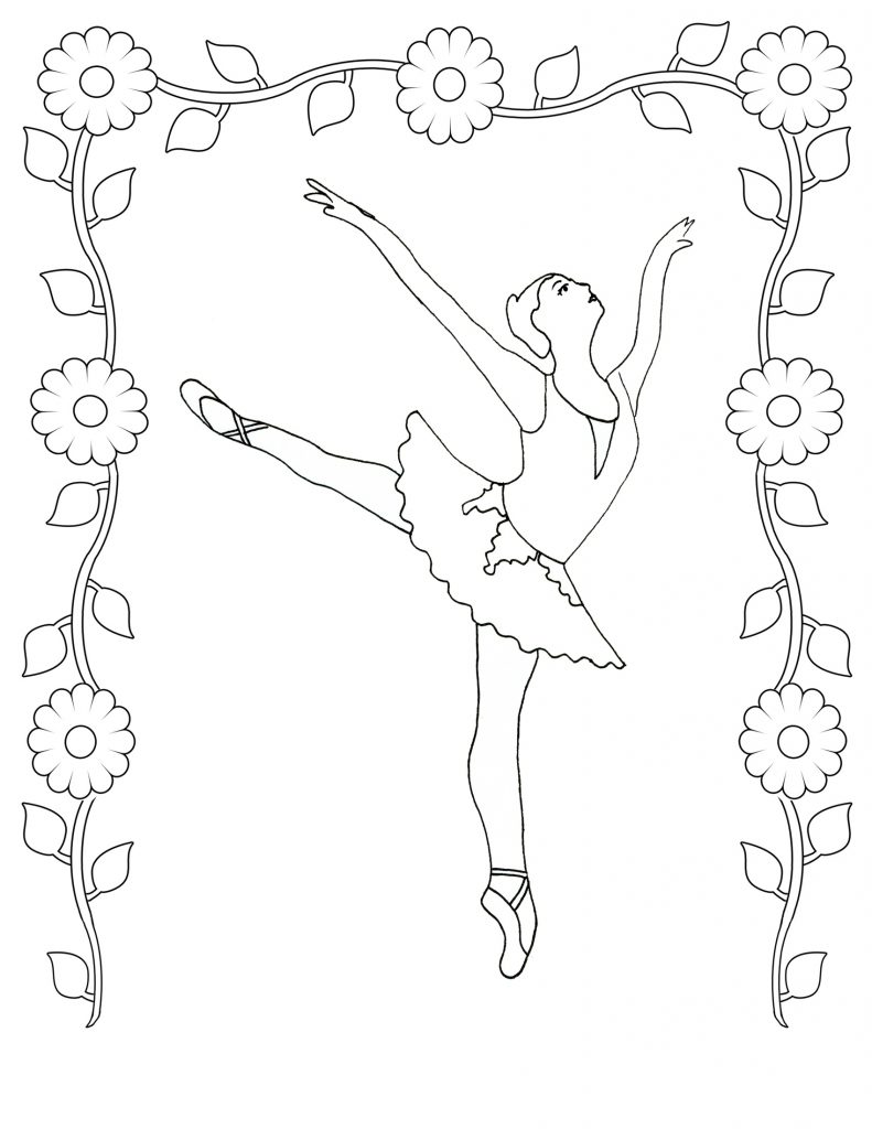 ballet coloring pages children - photo#8
