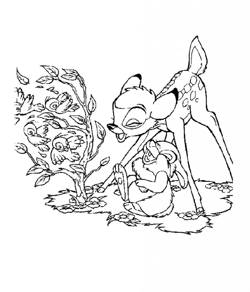 Bambi Coloring Pages To Print