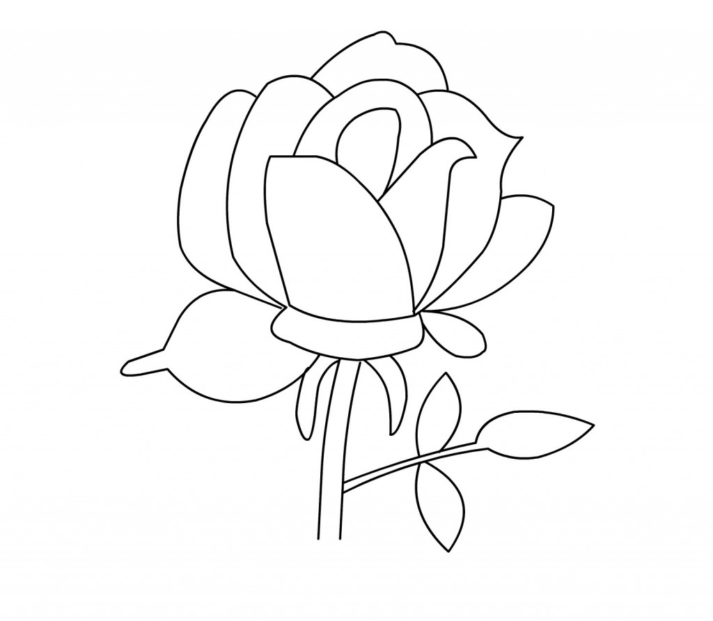 a rose coloring pages - photo#42