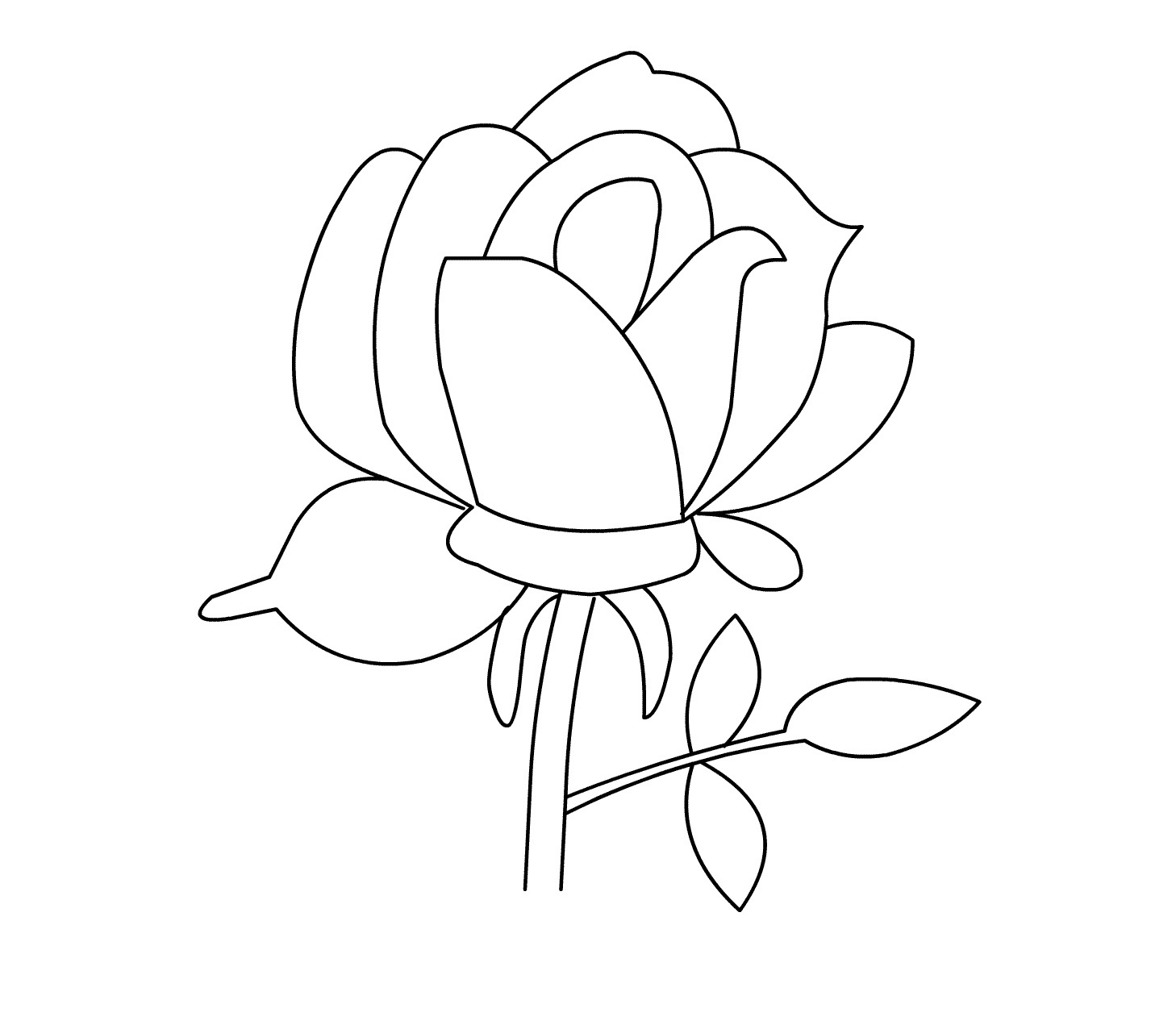 Coloring Page Of A Rose