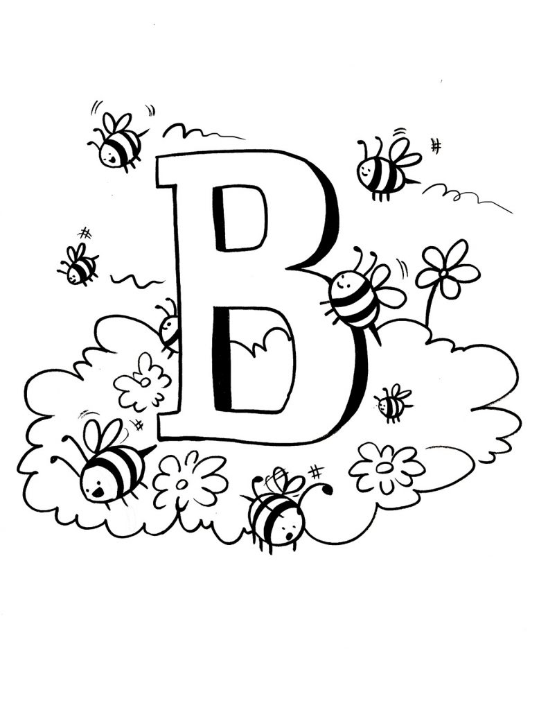 free bee coloring pages - photo#40
