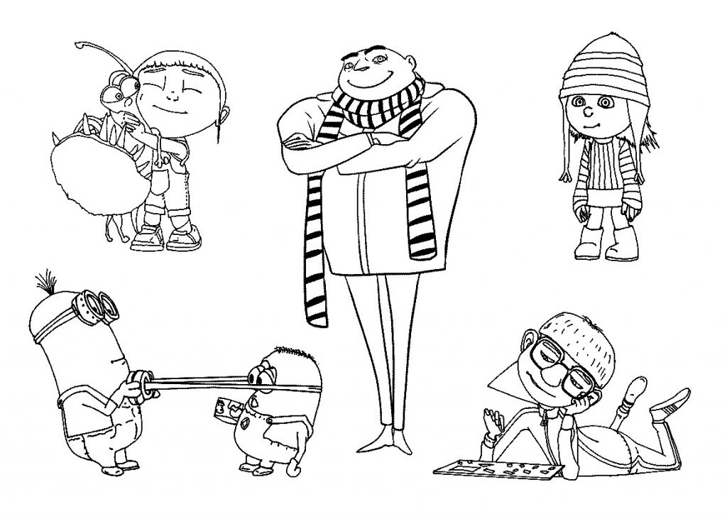 Despicable Me Coloring Pages To Print