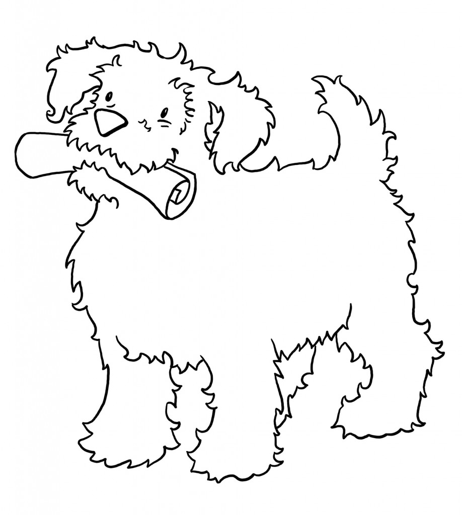 Free Printable Puppies Coloring Pages
