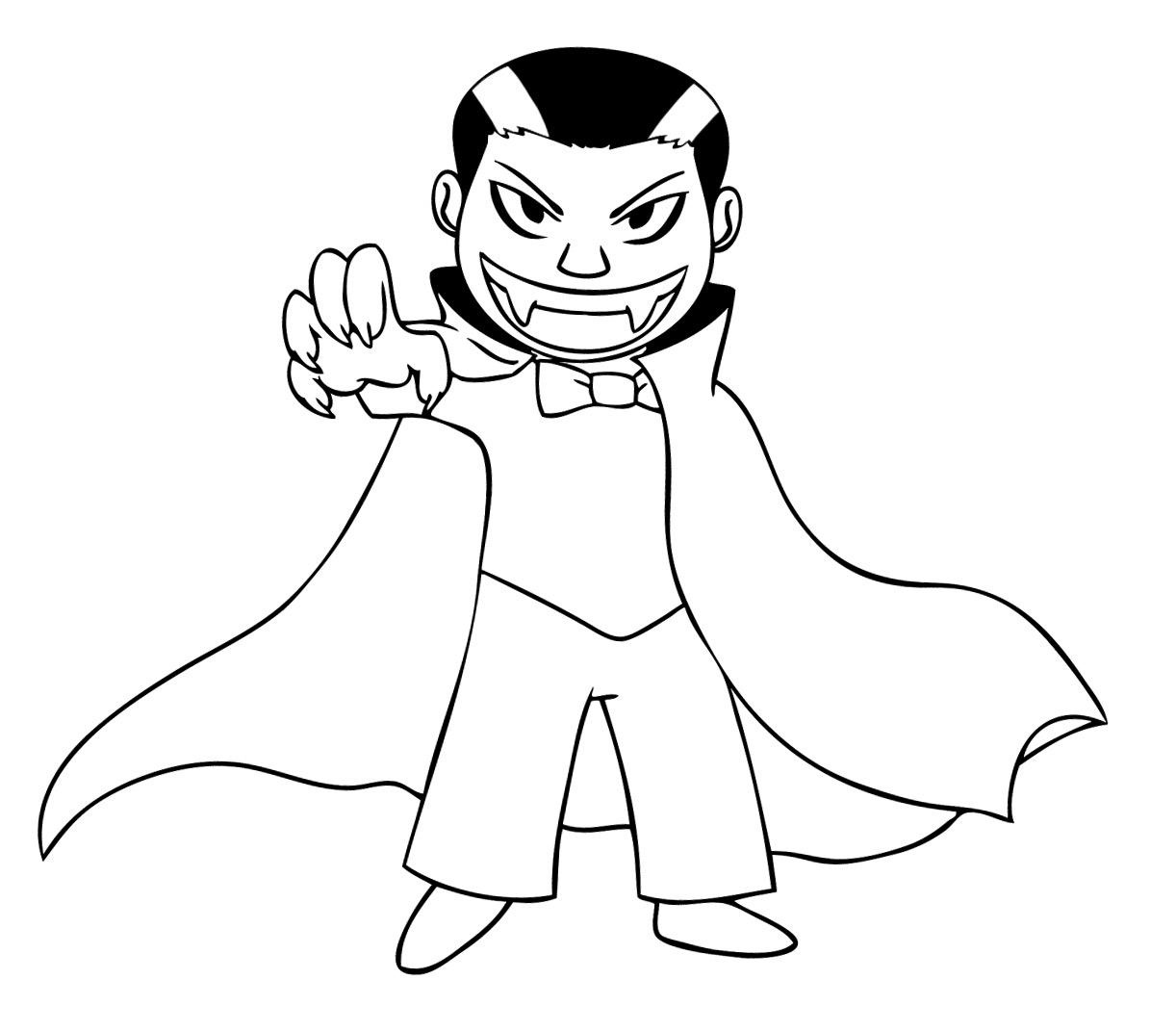 free vampire coloring pages