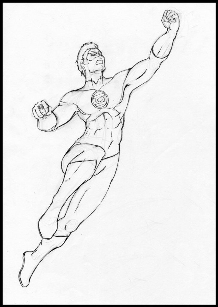 Green Lantern Coloring Pages To Print
