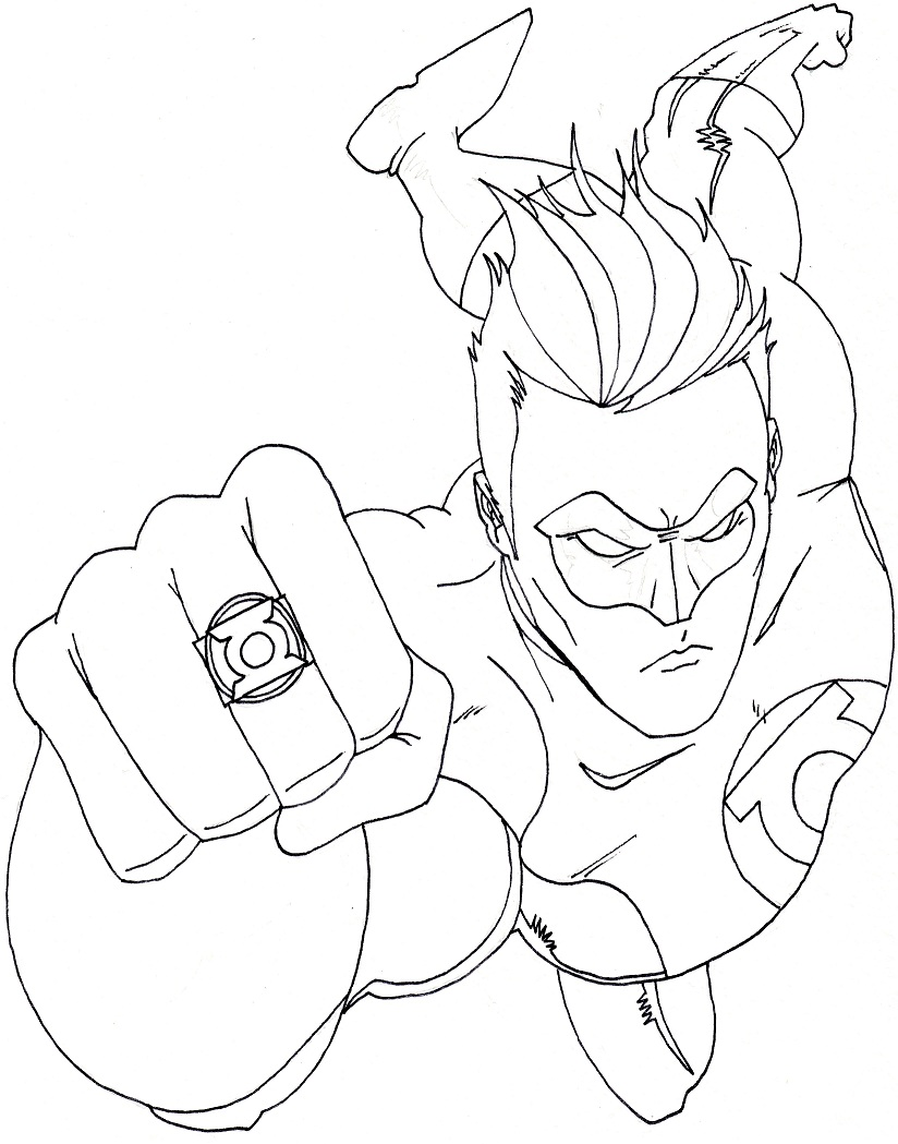 Free Printable Green Lantern Coloring