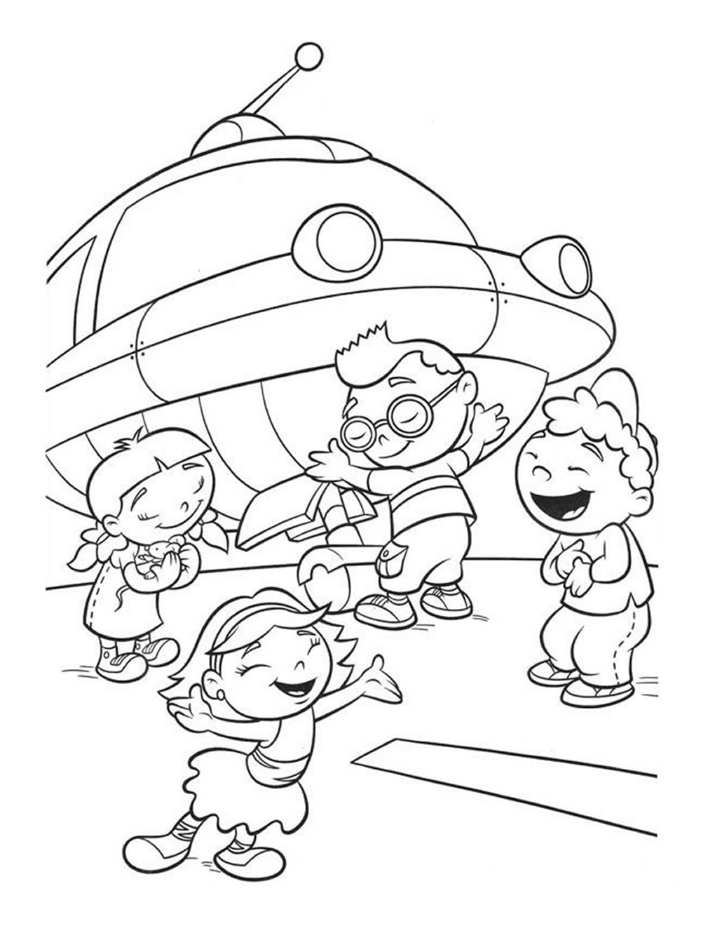 Free printable little einsteins coloring pages get ready Coloring book