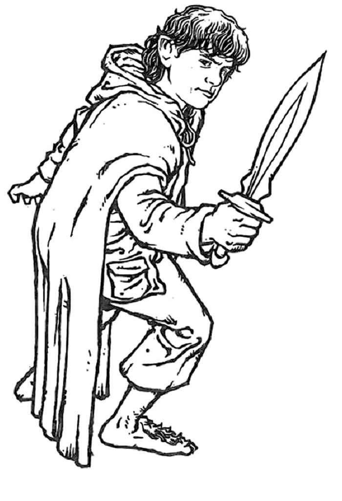 Free printable lord of the rings coloring pages for kids - Dessin seigneur des anneaux ...