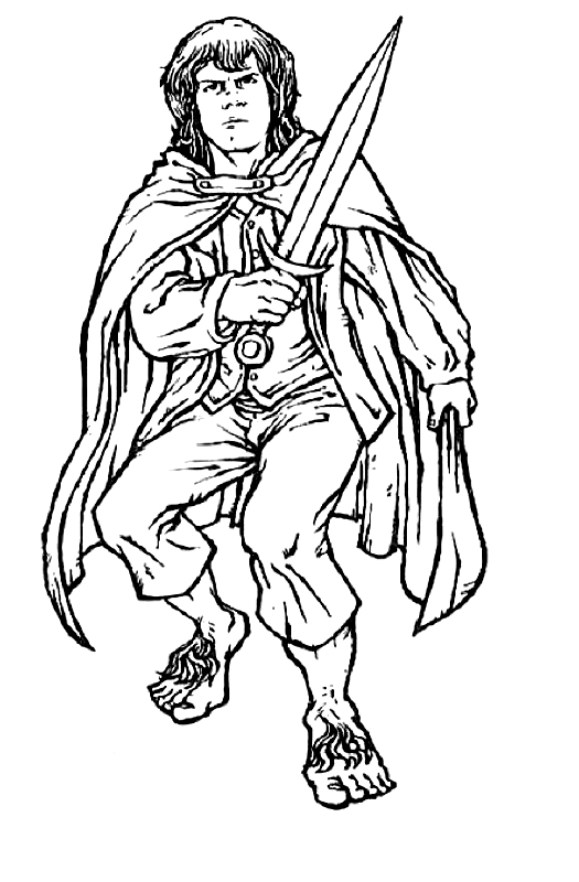 Lord of the Rings Coloring Pages For Kids