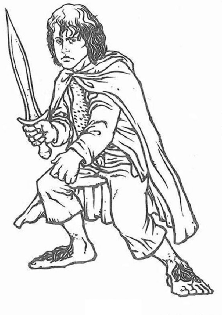 Free Printable Lord Of The Rings Coloring Pages For Kids
