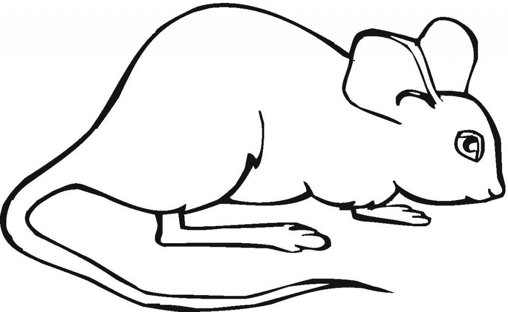 Free Printable Mouse Coloring Pages