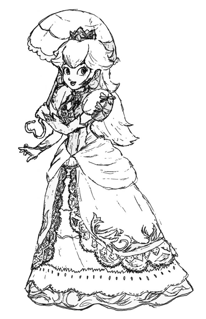 princess peach coloring pages - photo#21