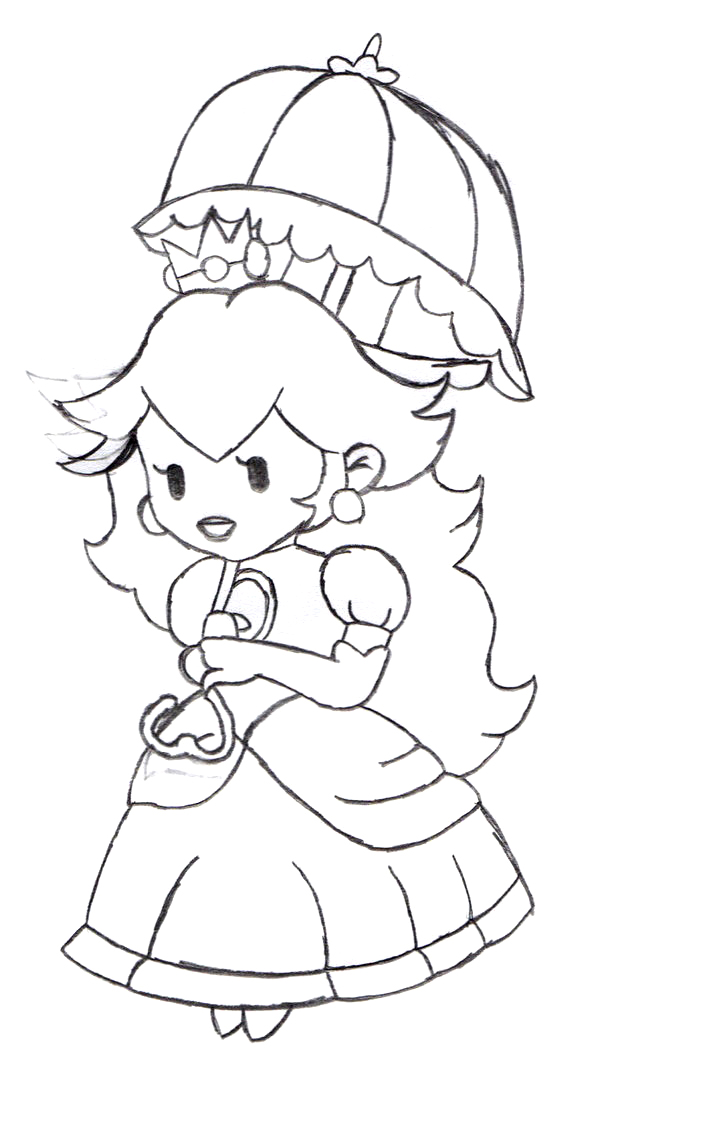princess peach coloring pages - photo#19