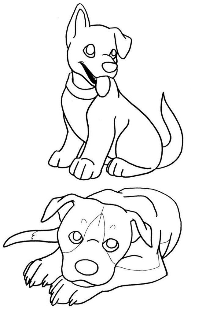 Free Printable Puppies Coloring Pages For Kids