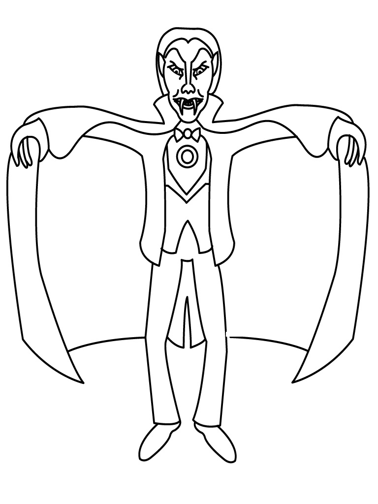 Vampire Coloring Pages To Print
