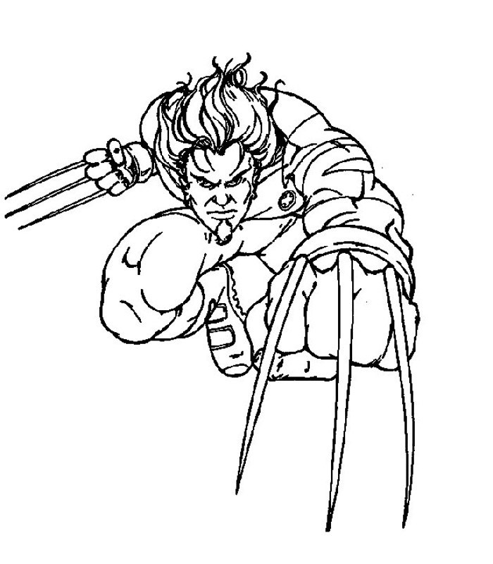 Free Printable X Men Coloring Pages