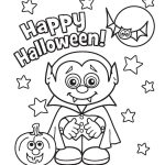 Happy Halloween Vampire Coloring Page