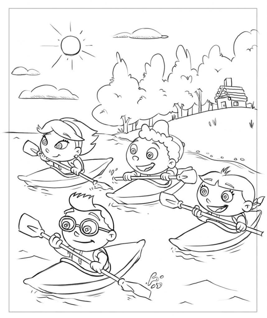 Little Einsteins Coloring Pages Kayaking