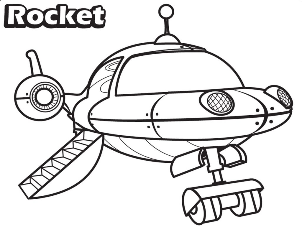 Little Einsteins Coloring Pages - Rocket Landing