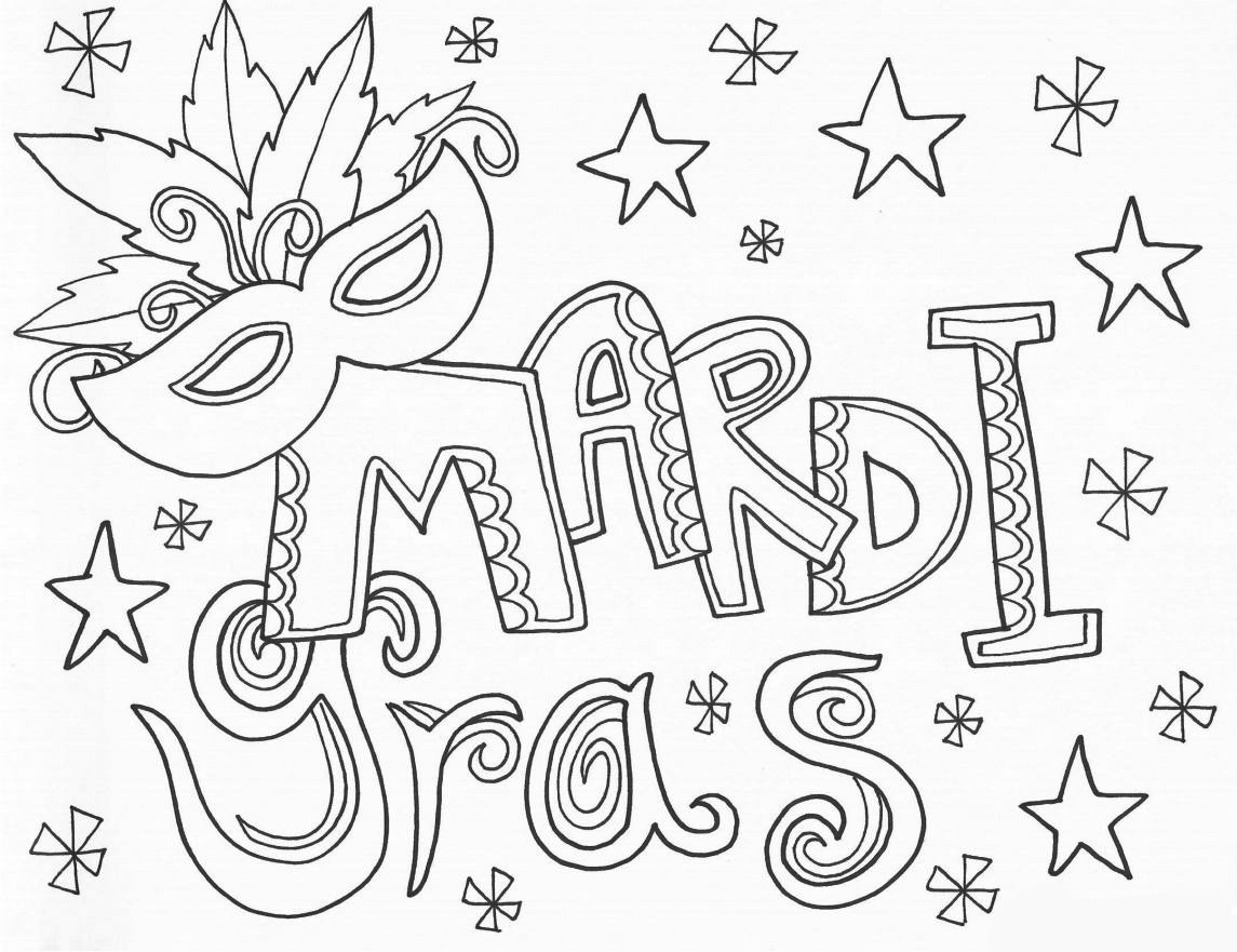 mardi gra coloring pages   Free Printable Mardi Gras Coloring Pages For Kids