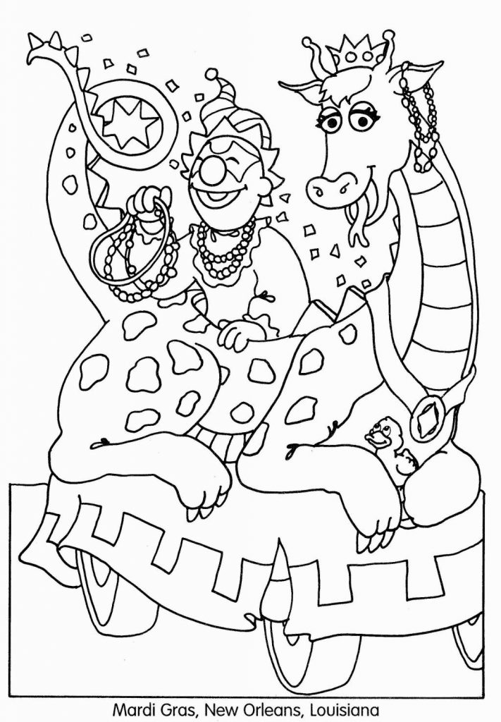 Mardi Gras New Orleans Coloring Pages