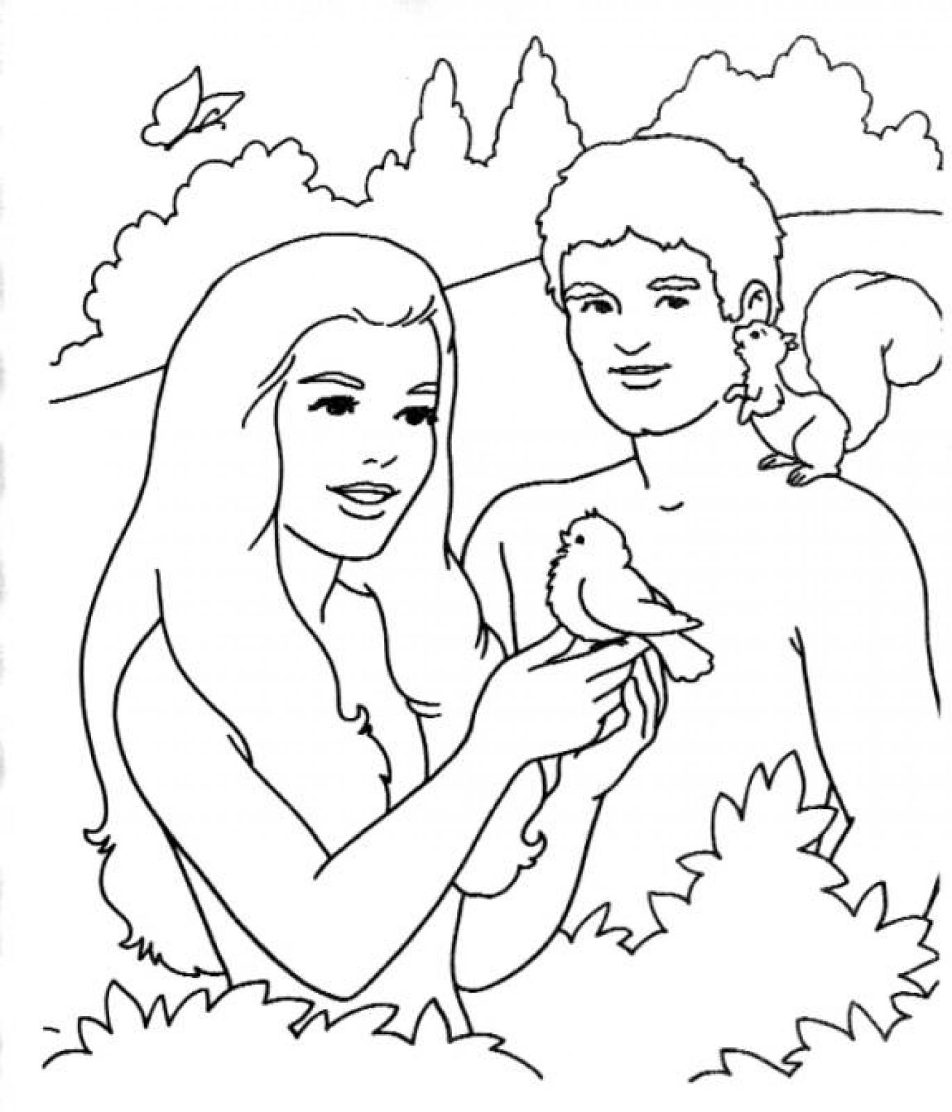 Free Printable Adam and Eve Coloring Pages For Kids - Best ...