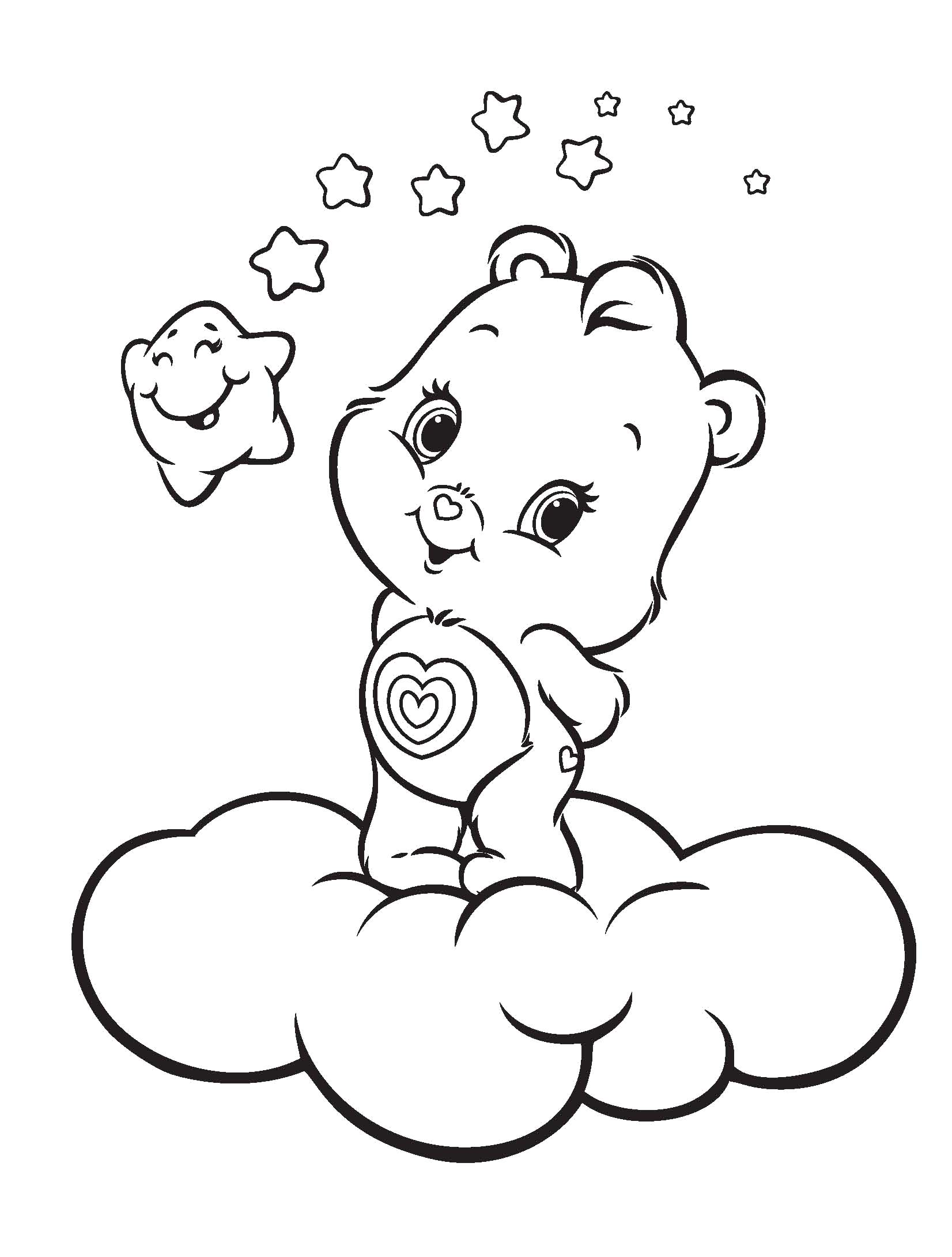baby care bears coloring pages