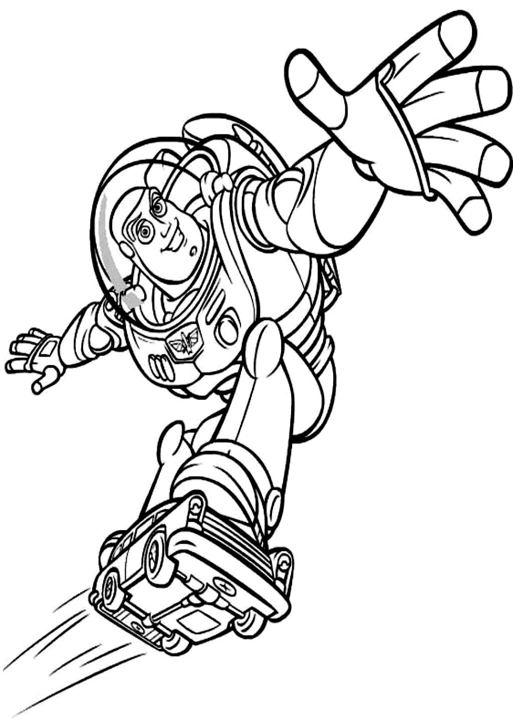 It is a graphic of Crush Buzz Lightyear Coloring