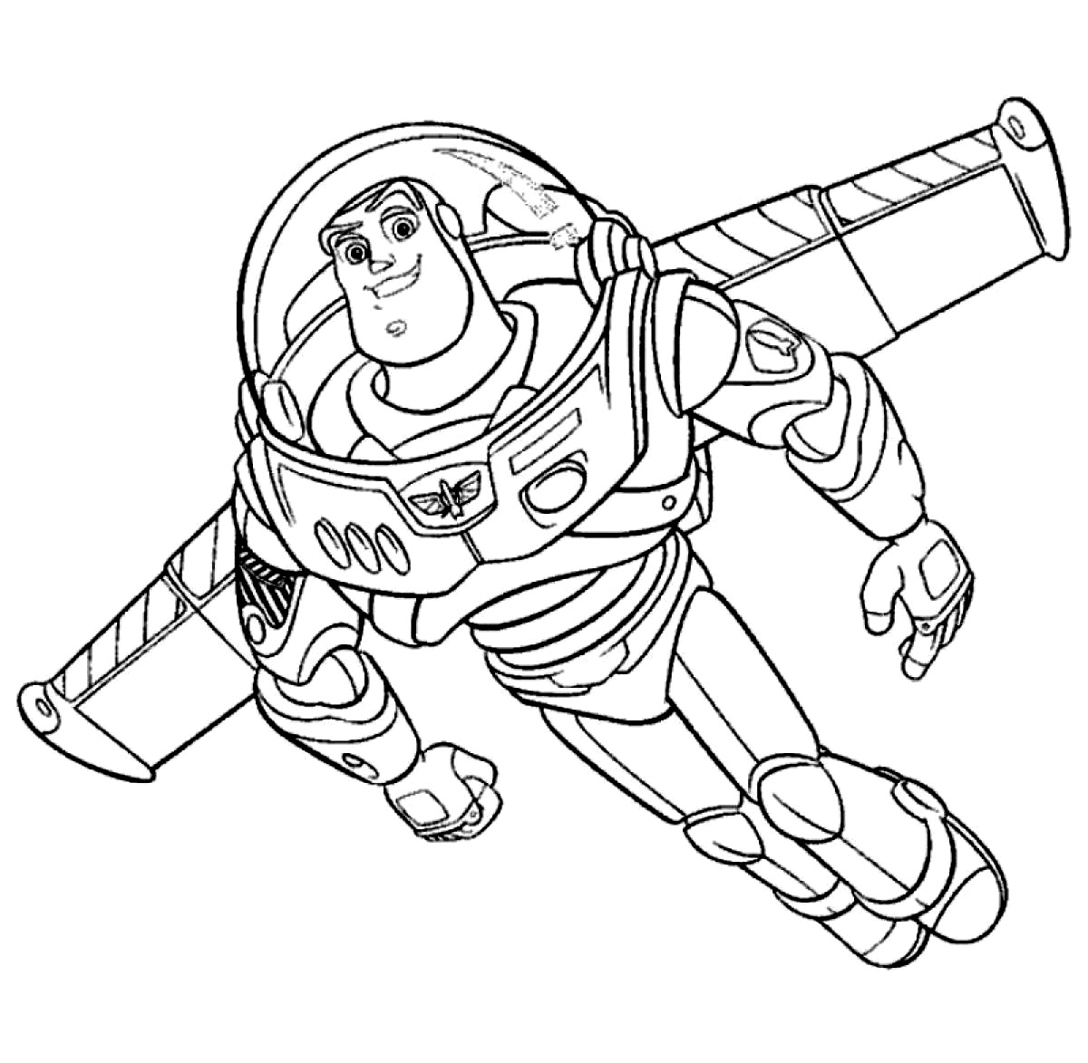 Free printable buzz lightyear coloring pages for kids for Free printable coloring pages toy story 3
