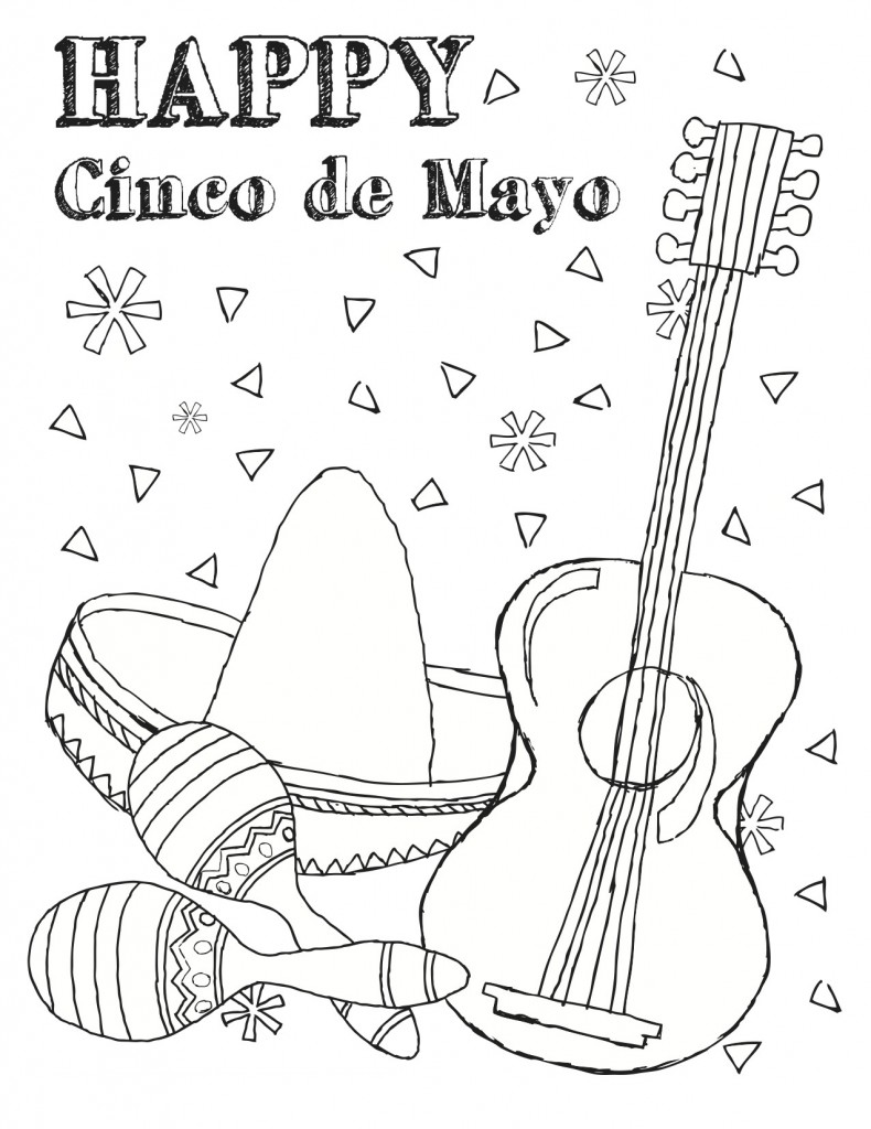 Cinco De Mayo Coloring Page